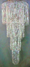 Where to rent BEADED CHANDELIER 6 X24 in Louisville KY