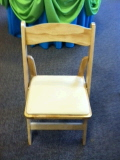 Where to rent NATURAL WOOD CHAIR W  PADDED SEAT in Louisville KY