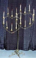 Where to rent BRASS DOUBLE HEART CANDLEABRA in Louisville KY