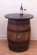 Where to rent 30  RD BOURBON BARREL TABLE 36  TALL in Louisville KY