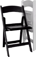 Where to rent BLACK RESIN CHAIRS W PADDED SEAT in Louisville KY