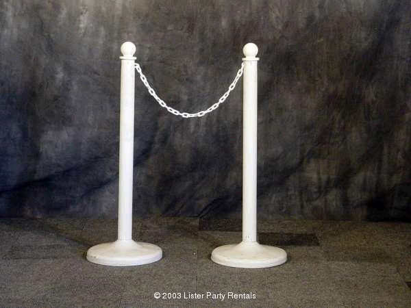 Where to find STANCHIONS -  WHITE PLASTIC in Louisville
